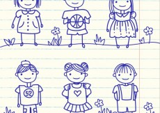 Free vector Hand drawn kids #68