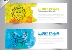 Free vector Hand drawn summer banners #233