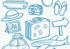 Free vector Hand drawn travel elements #12