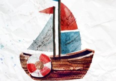 Free vector Hand painted boat #1976
