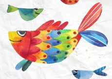 Free vector Hand painted fish #300