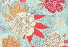 Free vector hand painted flowers background #826