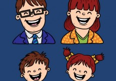 Free vector Happy parents and children #3622