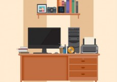Free vector Home workplace #92