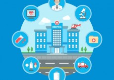 Free vector Hospital infographic #1583