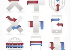 Free vector Icons with ribbons #3417