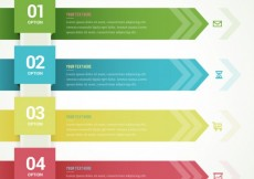 Free vector infographic template with arrow banners #748