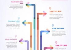 Free vector Infographic with colorful arrows #2125
