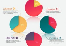 Free vector infographic with pie charts #117