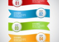 Free vector Infographic with ribbon banners #22