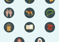 Free vector Islam icons #402