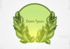 Free vector Label with leaves #3162
