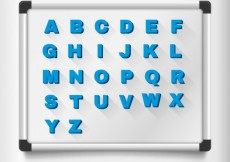 Free vector Magnetic letters on a board #2245