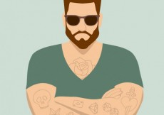 Free vector Man with tattoos #1373