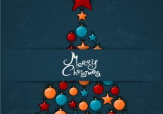Free vector Merry christmas card with a christmas tree #531