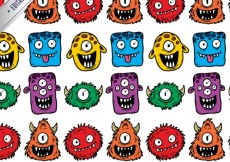 Free vector Monsters pattern #599