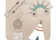 Free vector Native indian elements #938