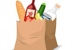 Free vector Paper bag with food #3001