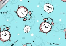 Free vector Pattern with alarm clocks #618