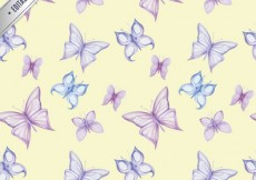 Free vector Pattern with butterflies #2040