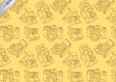 Free vector Pattern with hand drawn cameras #2482