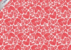 Free vector Pattern with hand drawn hearts #2080