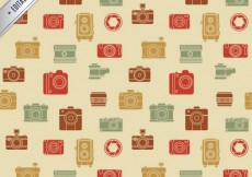 Free vector Pattern with retro cameras #1134