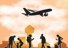 Free vector People silhouettes at the airport #2117
