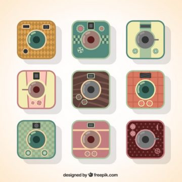 Free vector retro camera apps #1829