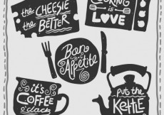 Free vector Retro cooking badges #1947