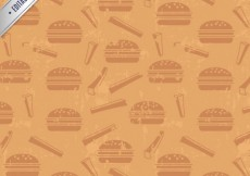 Free vector Retro pattern with burgers #575