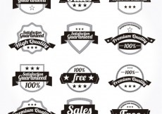 Free vector Retro promotion badges #3263