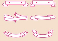 Free vector Ribbon banners collection #479