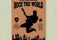 Free vector Rock the world poster #678