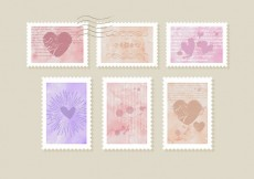 Free vector Romantic Stamps #1218