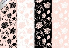 Free vector Roses patterns #858