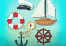 Free vector Sailing elements #880