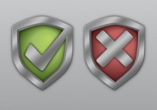 Free vector Shields with check marks #3821
