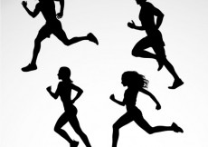 Free vector Silhouettes of runners #3374