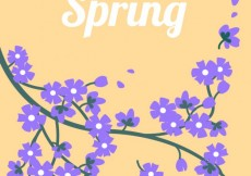 Free vector Spring flowers in purple color #3444