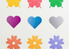 Free vector stickers in different shapes with glitter #3