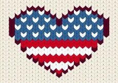 Free vector Stitched United States heart #1072