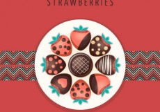 Free vector Strawberries with chocolate #1718