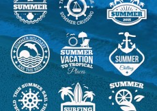 Free vector Summer badges #848