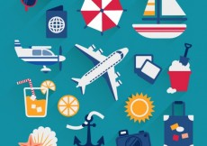 Free vector Summer vacation icons #851