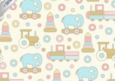 Free vector Toys pattern #2677