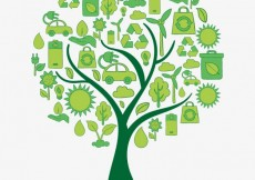 Free vector Tree made of eco icons #897