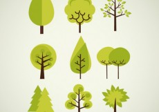 Free vector Trees collection #3634