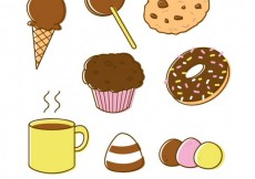 Free vector Variety of chocolate sweets #2615
