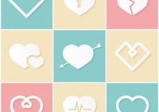Free vector Variety of heart icons #2227